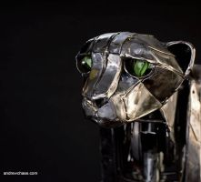 Mechanical metal pensive cheetah by Andrew-Chase