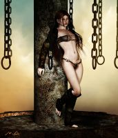 Siran in chains by Mirandus-Arts