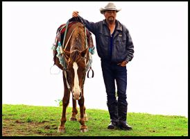 Man and Horse by philvdotcom