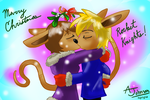 Sparkster and Wife kissing. by KohakuKun19
