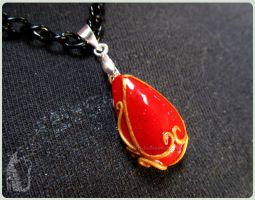Blood Drop Pendant - Warhammer 40k inspired by Talty