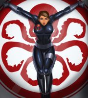 Maria Hill chained up by svoidist