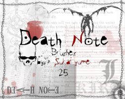 25 Death Note brushes by Sukai-yume