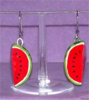 Watermelon earrings by Silatham