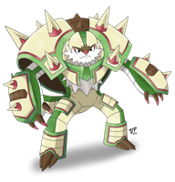 Mega Chesnaught by DragoonForce2
