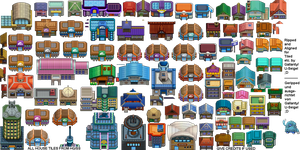 All Houses from HGSS by Gallanty