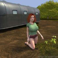 Young curvy lady - outdoor 2 by Manigus