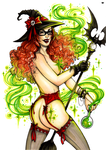 Witchy Pin-up by MadBlackie