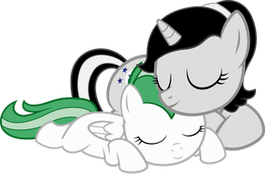 Request - Minty and Silver by RedPandaPony