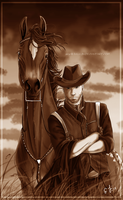 Outlaws Sepia Version by Jullelin