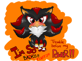 :Shadow the little fluffy Hedgehog: by Zapitoow