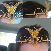 Golden Evenstar Crown by kichinia
