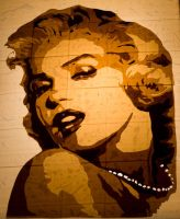 Marilyn Monroe by Layer-tape