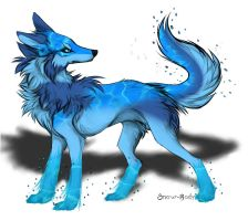 Water wolf adopt by BlackAdopts93