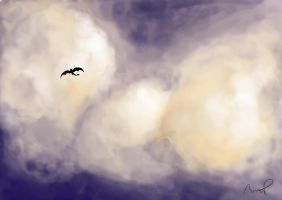 Random Cloud Practice + Toothless by doodle-my-noodle