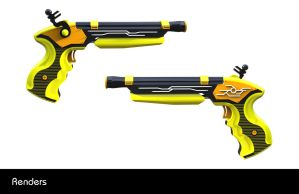 Dueling Water Pistols Presentation Board 2 by all-one-line