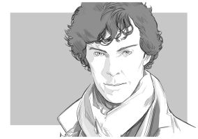 Benedict Cumberbatch: Sherlock Holmes by uger