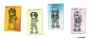 Motley Crue Cards by SavanasArt