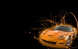 Corvette Z06. Wallpaper by MarieAndersson