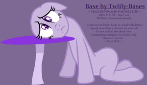 MLP Base 307 - Monday Blues by Twiily-Bases