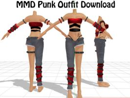 MMD Punk Outfit Download by SachiShirakawa