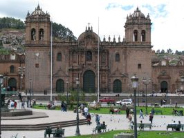 Cuscos Square Cathedral by Father-Alexander