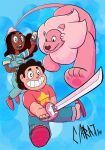 Pink and Swords by Silent-nona-light