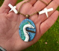Haku the Dragon - handmade Necklace by Ganjamira