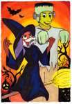 Happy Halloween from Mistel and Rick by rodrev