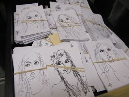 FACES IN MY DRAW by PISAM