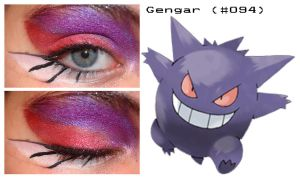 Pokemakeup 094 Gengar by nazzara