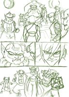 Shiro goes to Namek doodle by Mailus