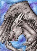 Gray dragoness by ElorenLeianor