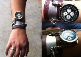 Custom Steampunk Watch by burps20