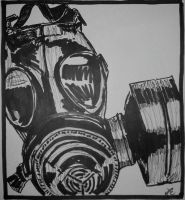 Gas Mask by Mightykingandrew