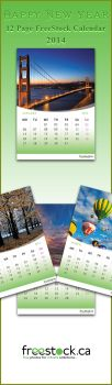 FreeStock Calendar 2014 by SaimGraphics