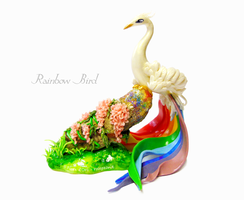 Rainbow Bird by rosepeonie