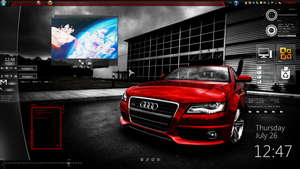 Audi - Dark Glass Desktop by PhysicsAndMore