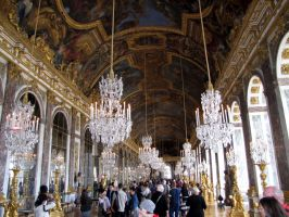 Palace of Versailles - Hall of Mirrors by kwizar