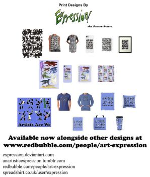 Prints: Creatures, Dragons and Artists by Expression