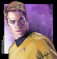 Captain Kirk (Star Trek Reboot) w/ Speed Painting! by BonnyJohn