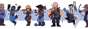 TF2 - The mercs - BLU - by BloodyArchimedes