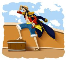 :Luffy: Adventure, here I am! by Evanyia