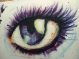 graffiti: eye by talisje