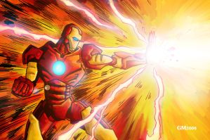 Iron Man Blast by GavinMichelli