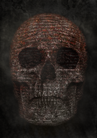 Typography Skull - Dark by snugsomeone