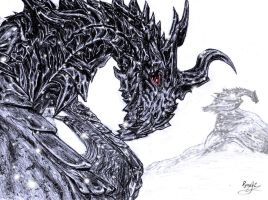 Alduin from The Elder Scrolls V: Skyrim by DynastJC