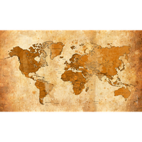Old Worldmap - Weltkarte by Kunstlab