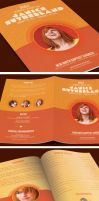 Autumn Breeze Funeral Program Template by loswl