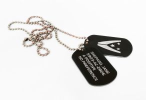 Jane Shepard's dog tags by Katlinegrey